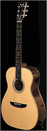 Goodall Guitar photo, grand concert, indian rosewood, koa binding